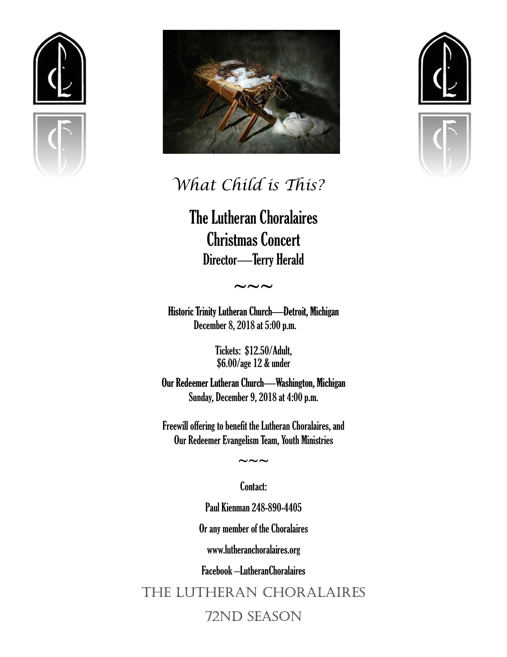 Lutheran Choralaires Christmas 2018 Flyer