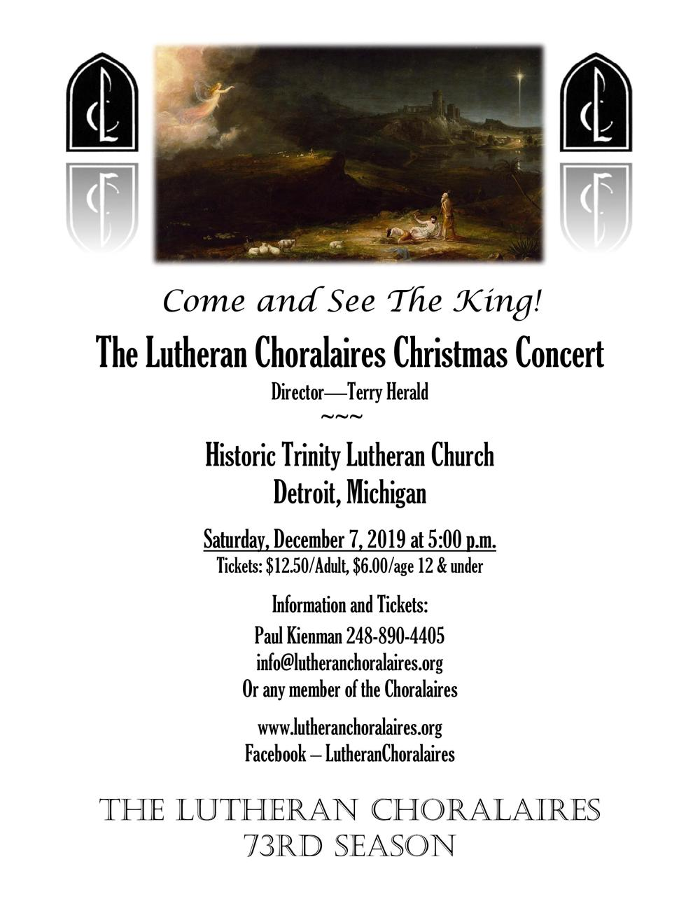 Lutheran Choralaires Christmas 2019 Flyer